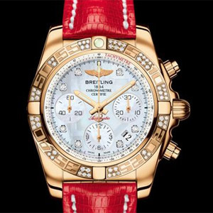 Breitling Chronomat 41 or rose diamants