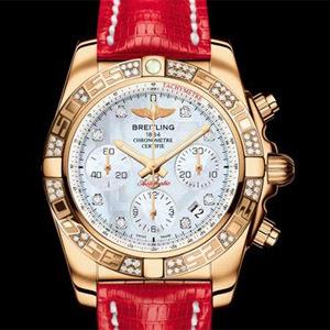 Breitling Chronomat 41 or rose diamants