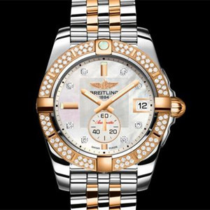 Breitling Galactic 36 or rose diamants