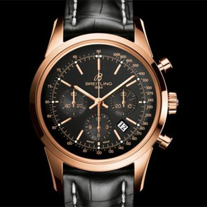 Breitling Transocean Chronograph Or rose