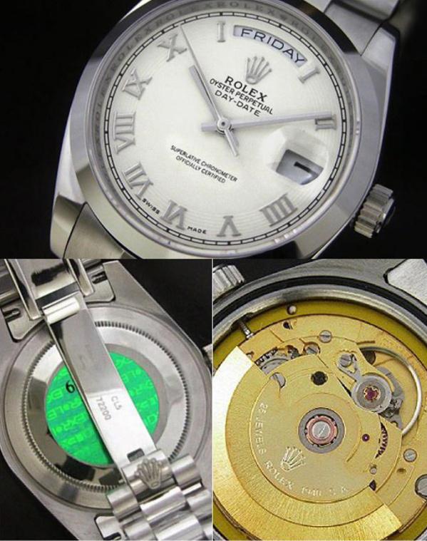 Fake Rolex Day-Date - Contrefaçon