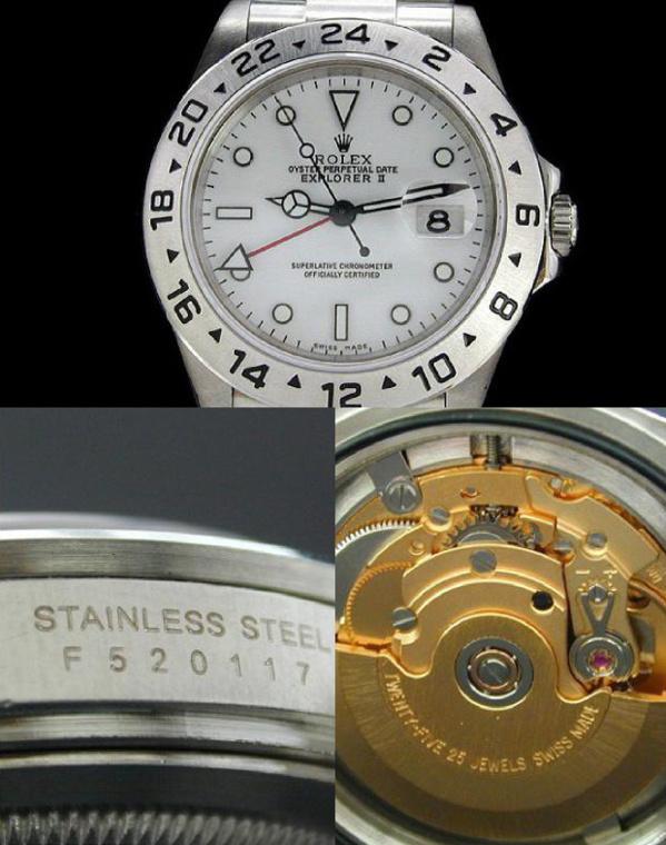 Fake Rolex Explorer 2 - Contrefaçon