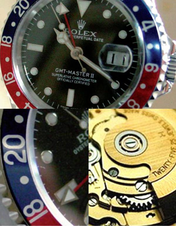 Fake Rolex GMT Master II 16710 - Contrefaçon