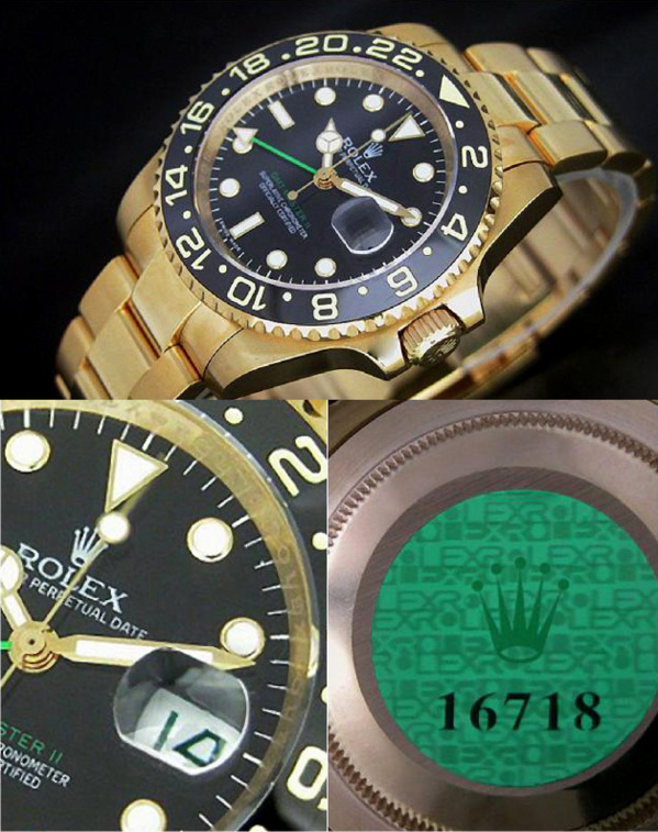 Fake Rolex GMT Master II 116718 - Contrefaçon