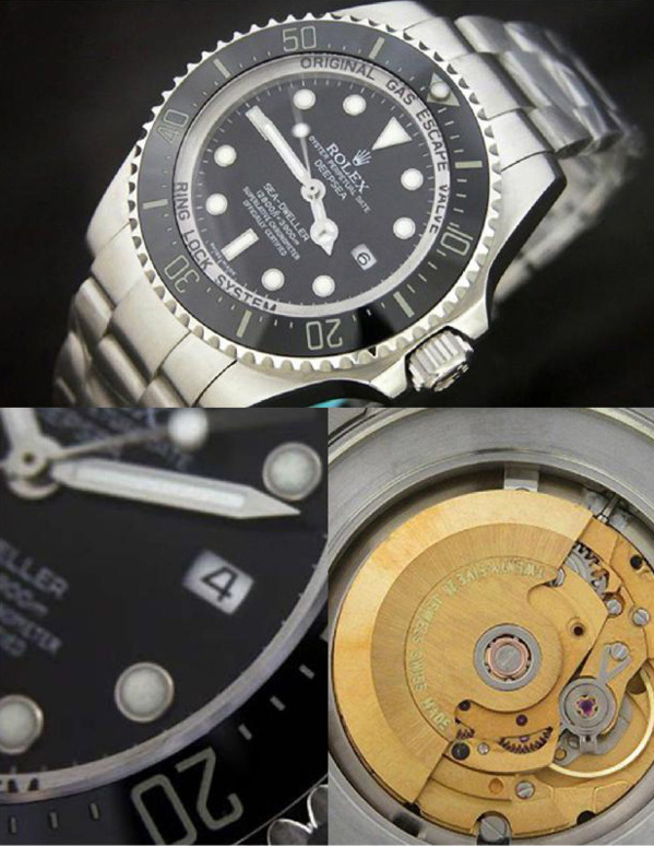 Fake Rolex Sea-Dweller 116600 - Contrefaçon