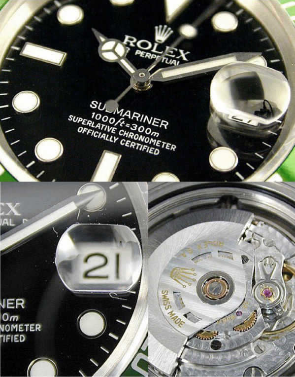 Fake Rolex Submariner 16610 LV - Contrefaçon