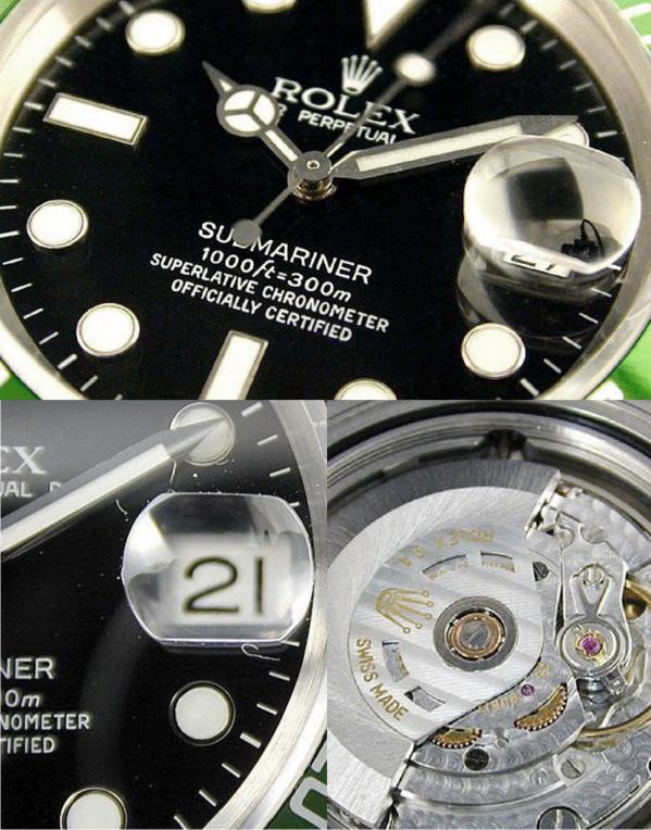 Fake Rolex Submariner 16610 LV - Contrefaçon