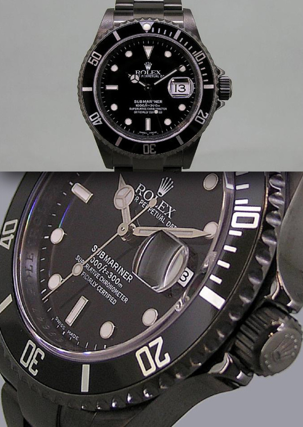 Modèle original Rolex Submariner 16610 PVD