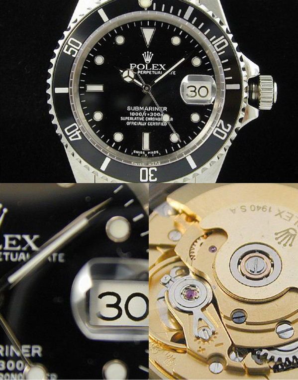 Fake Rolex Submariner 16610 - Contrefaçon