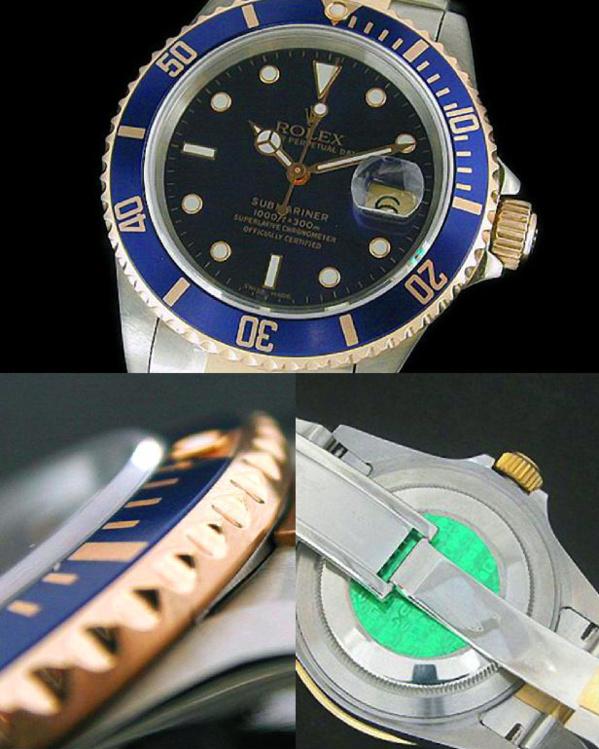 Fake Rolex Submariner 16613 - Contrefaçon