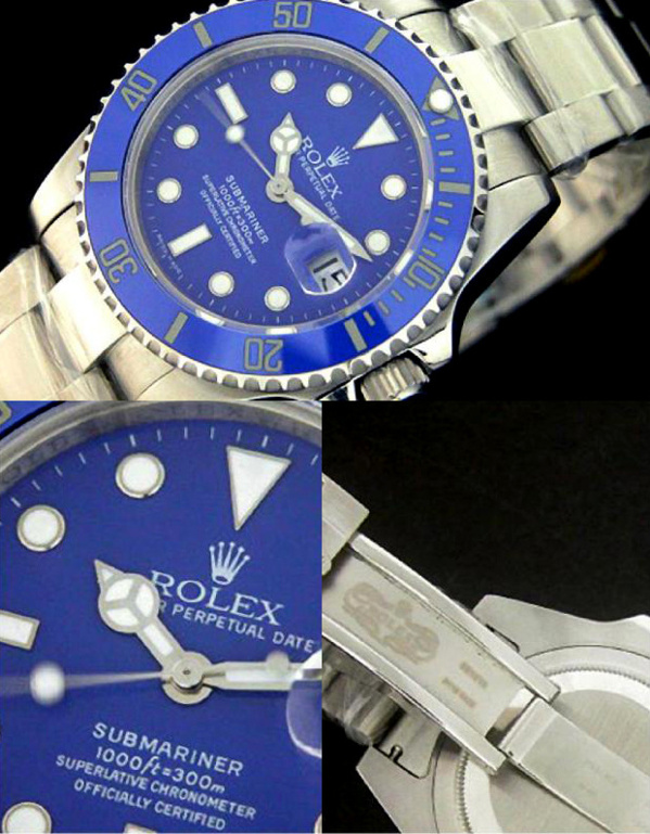 Fake Rolex Submariner 116619 - Contrefaçon
