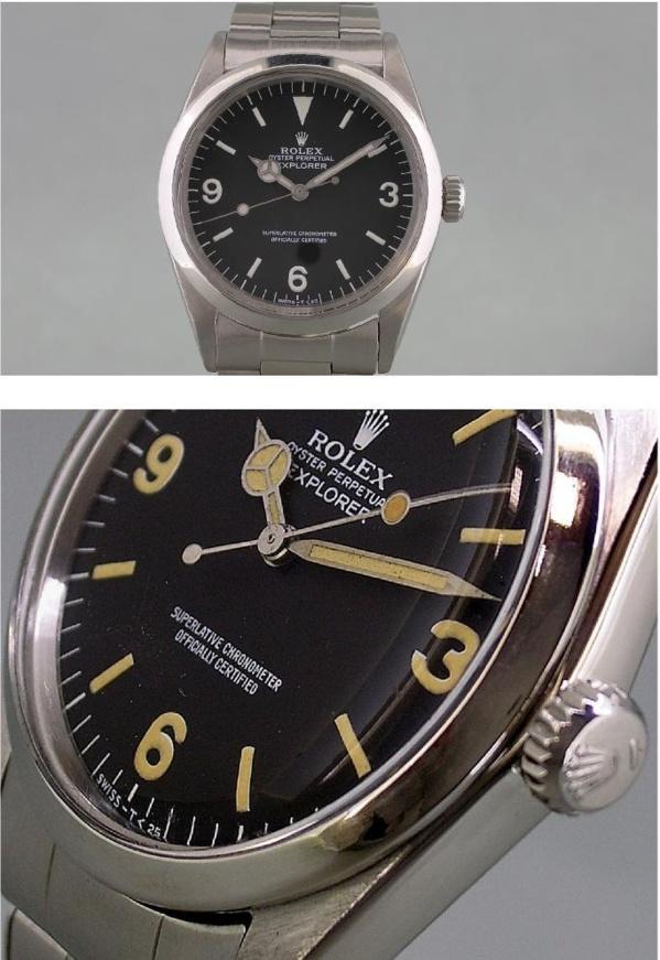 Montre originale Rolex Explorer I référence 1019 vintage