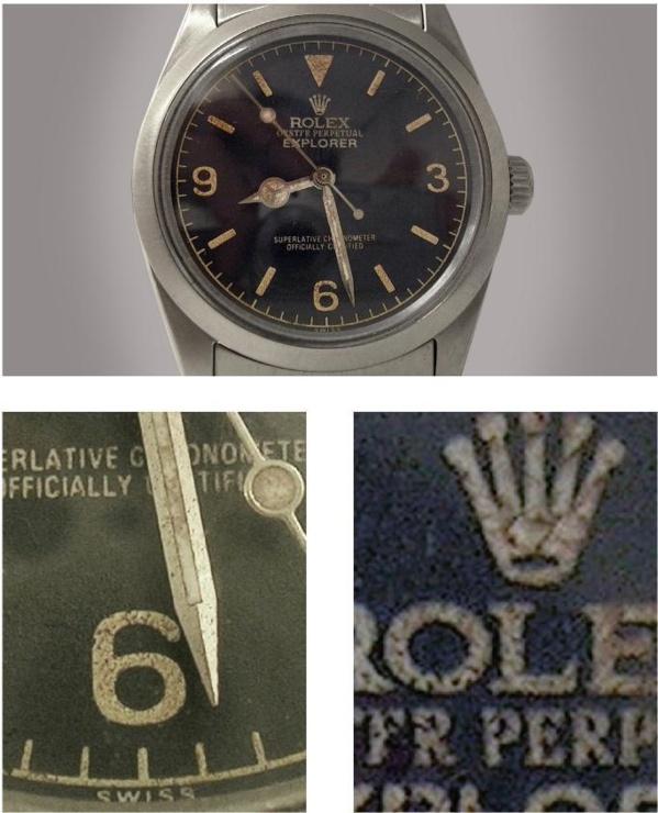 Fake Rolex Explorer I référence 1019 vintage - contrefaçon