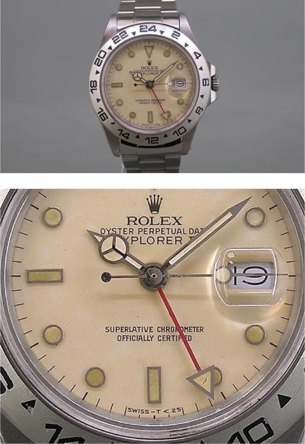 Montre originale Rolex Explorer II référence 16550 (cadran beige)