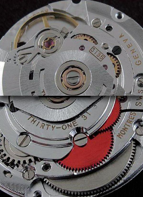 Faux Mouvements automatiques équipant les fausses Rolex