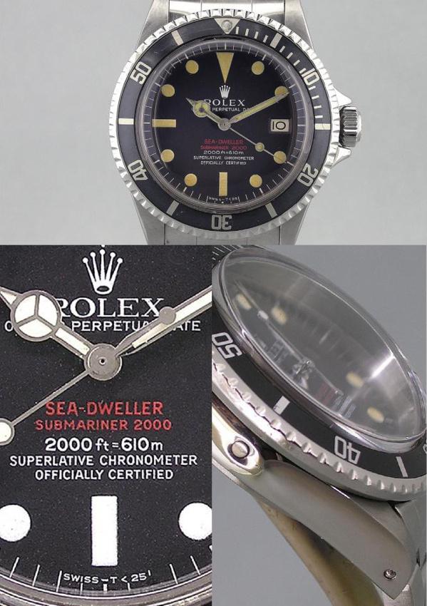 Montre originale Rolex Sea-Dweller 1665 Double-Red