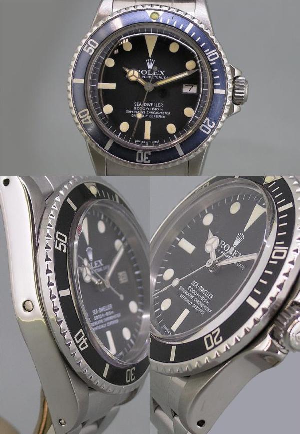 Montre originale Rolex Sea-Dweller 1665 vintage