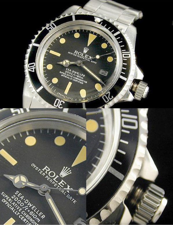Fake Rolex Sea-Dweller 1665 - Contrefaçon