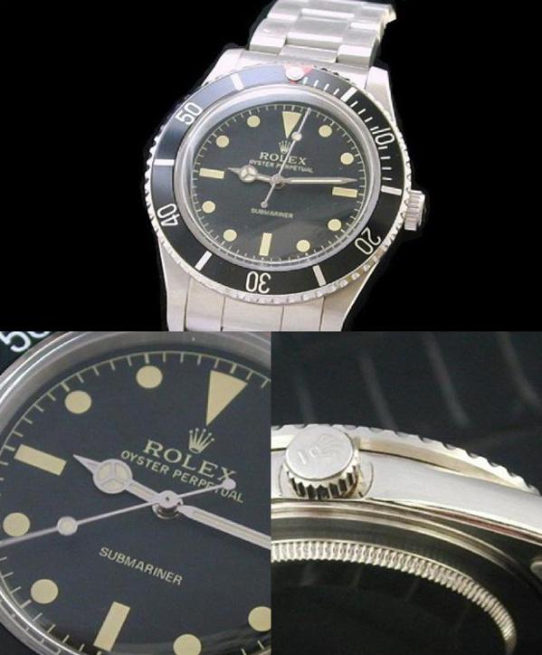 Fake Rolex Submariner 5513 - Contrefaçon