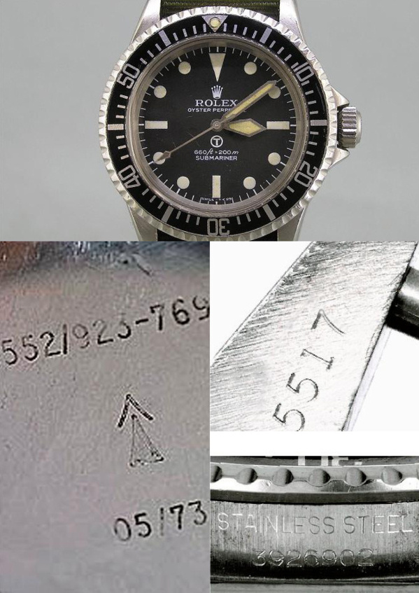 Rolex Submariner 5517 militaire originale