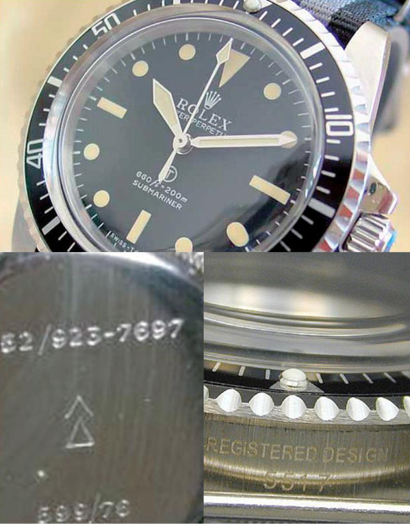 Fake Rolex Submariner 5517 - Contrefaçon