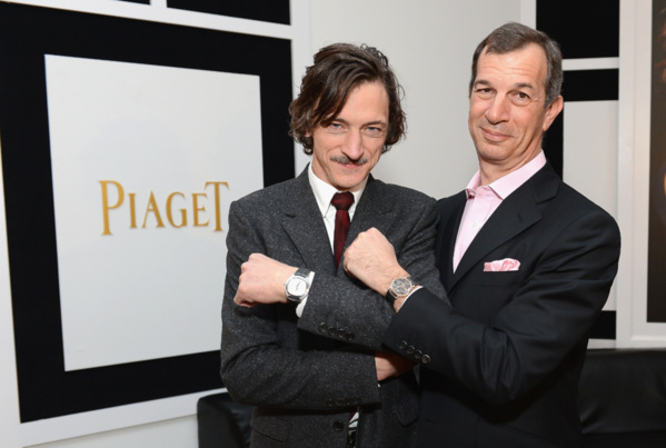 John Hawkes et Philippe Léopold Metzger (CEO Piaget)