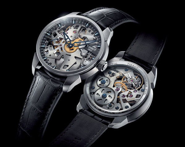 Montre Tissot-T complication squelette