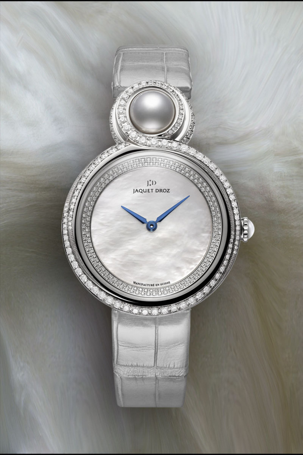 Jaquet Droz Lady 8 or gris et nacre.