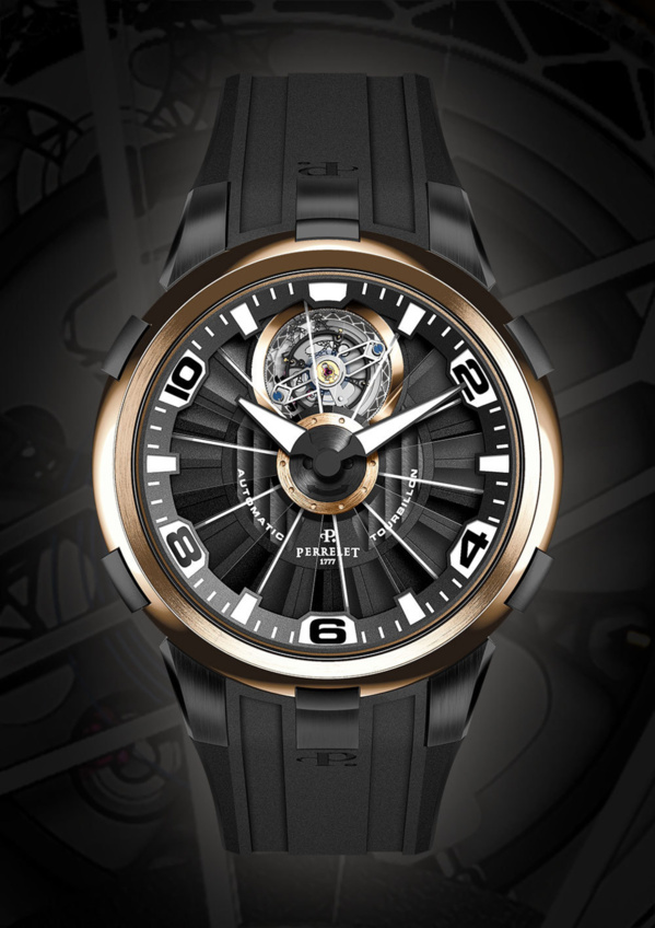 Perrelet Tourbillon DLC et or rose