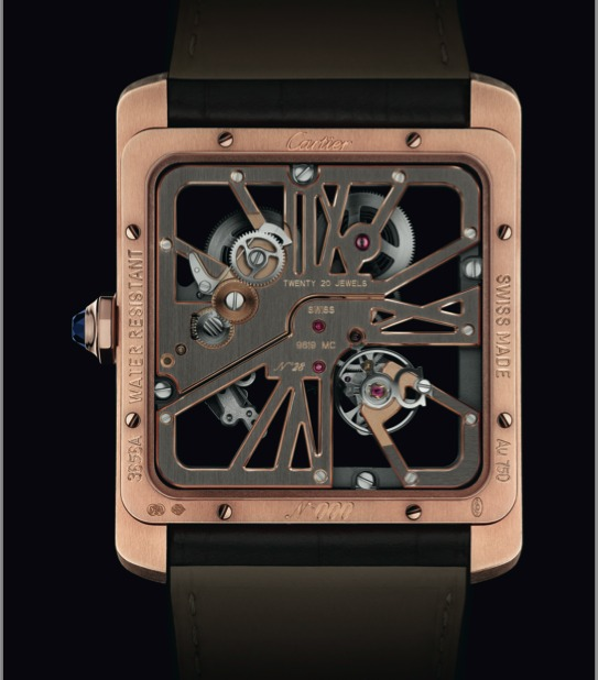 Montre Cartier Tank MC Squelette