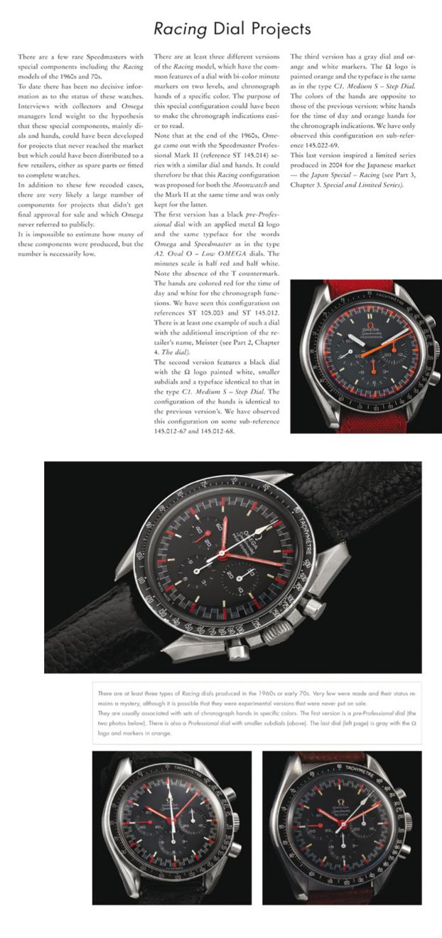 Rares modèles racing de l'Omega Speedmaster produits dans les années 60/70