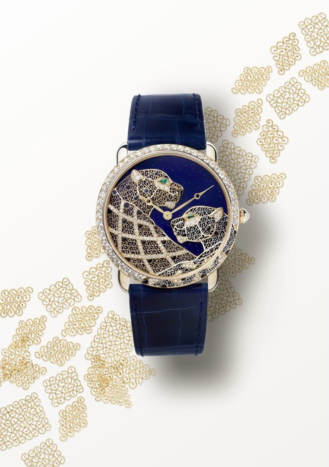 Montre ronde Louis Cartier Filigrane : ouvrage d'art et de dentelles d'or