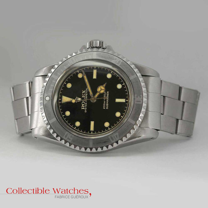Rolex Submariner rail track guilt dial