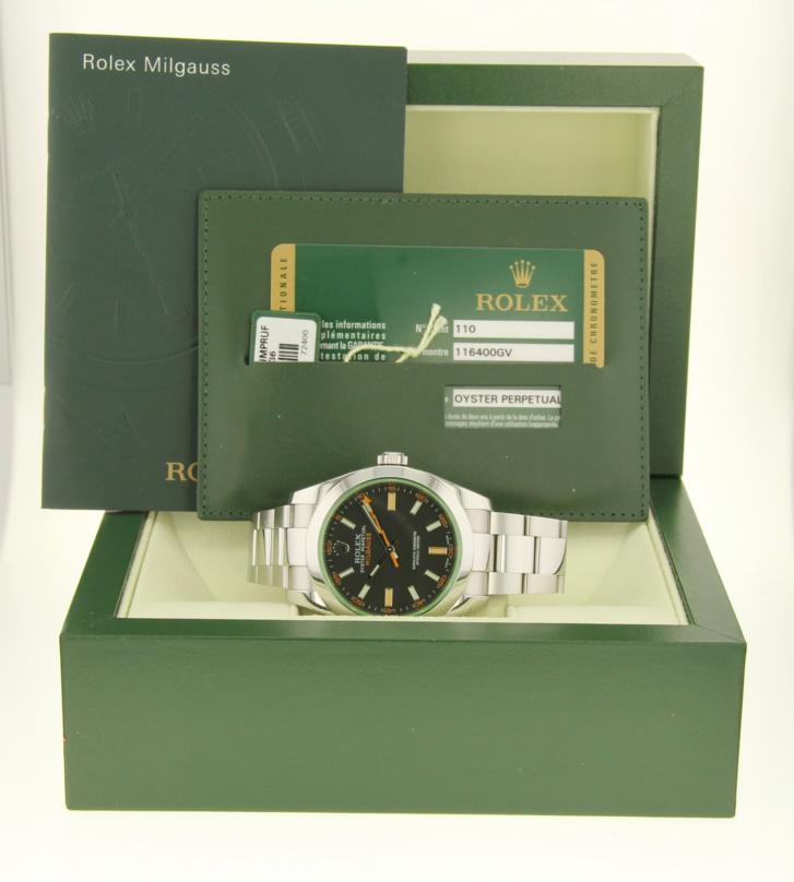 Rolex Milgauss 116400GV boîte et papiers
