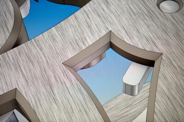 Dessin d'un des 147 angles que l'on trouve dans le mécanisme et qui ne peuvent être taillés qu'à la main
