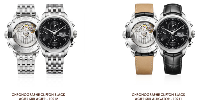 ​Baume et Mercier - Chronographe clifton black «black is beautiful»
