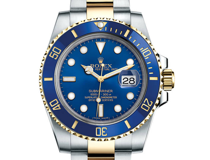 Prix du neuf Rolex 2015 Submariner 116613 LB or/acier Date