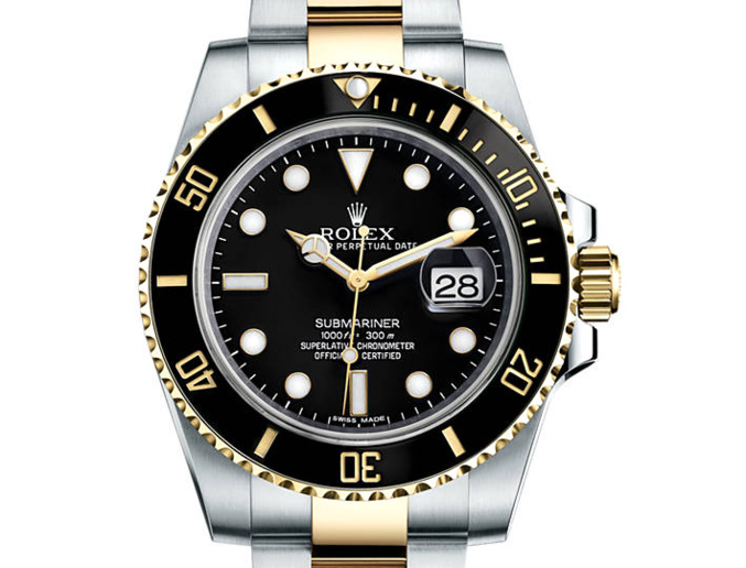 prix du neuf rolex 2015 submariner 116613 ln or acier date. Black Bedroom Furniture Sets. Home Design Ideas