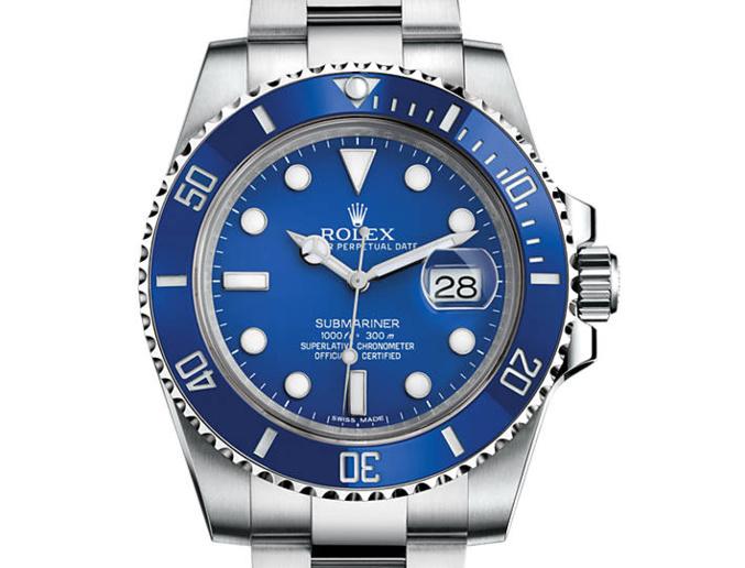 Prix du neuf Rolex 2015 Submariner 116619 LB or gris Date
