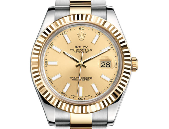 prix du neuf rolex 2015 datejust 2 41mm or jaune acier. Black Bedroom Furniture Sets. Home Design Ideas