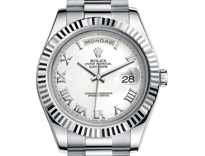Rolex Day-Date II or gris (41mm)