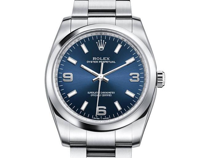 Rolex Oyster Perpetual 34mm cadran bleu