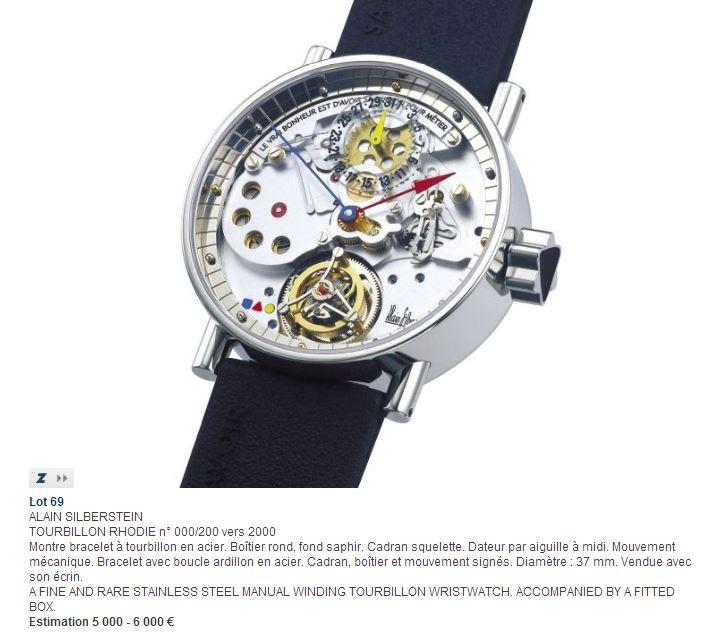 Vente judiciaire de garde-temps Alain Silberstein... Et si nous rendions hommage à cet horloger d'exception ?
