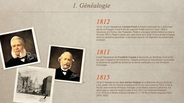 Extrait de la page historique du site Patek philippe