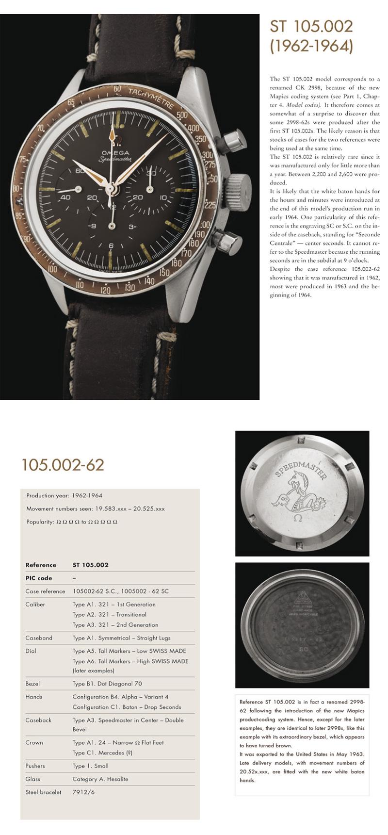 Rare Omega Speedmaster ST 105.002-62 produite entre 1962 et 1964