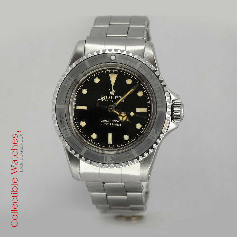 exceptionnel rolex submariner r f rence 5513 cadran chemin de fer occasion superbe tat. Black Bedroom Furniture Sets. Home Design Ideas