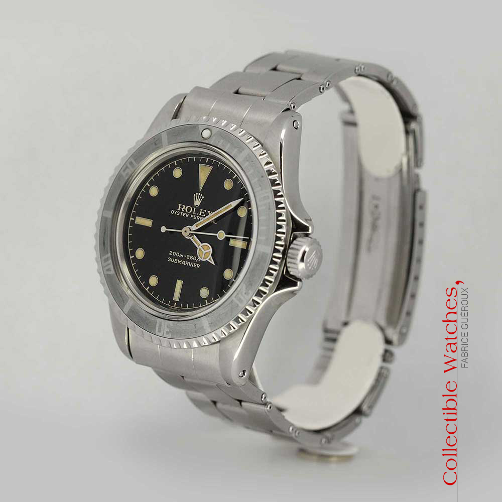 Rolex Submariner 5513 for sale Guilt Dial rail track