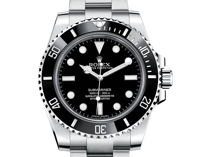 Prix du neuf Rolex 2015 Submariner 114060 Acier sans Date