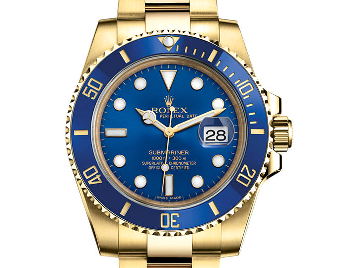 Prix du neuf Rolex 2015 Submariner 116618 LB Or Jaune Date