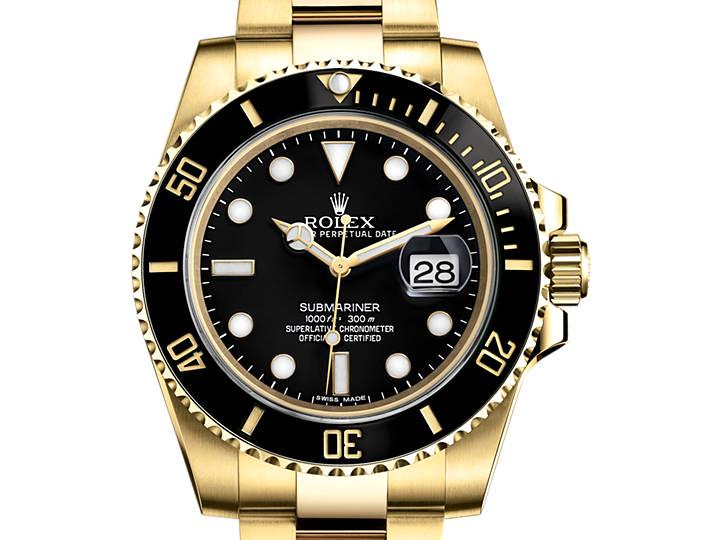 Prix du neuf Rolex 2015 Submariner 116618 LN Or Jaune Date